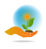 Ecology logo Stock Photos