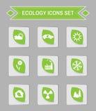 Ecology logo  icon set. Stock Photo