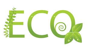 Ecology logo (Protect the environment ) Royalty Free Stock Photos