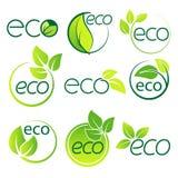 Ecology  logo symbol set vector Royalty Free Stock Photography