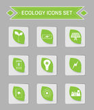 Ecology logo vector icon set. Stock Photos