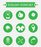 Ecology logo vector icon set. Royalty Free Stock Photography
