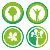Ecology logos Royalty Free Stock Photography