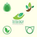 Ecology logos Royalty Free Stock Image