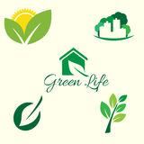 Ecology logos Royalty Free Stock Images