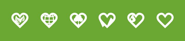 Ecology love icons Royalty Free Stock Images