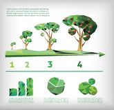 Ecology low polly style Royalty Free Stock Photo