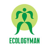 Ecology Man - Vector Creative Logo Sign Royalty Free Stock Photos