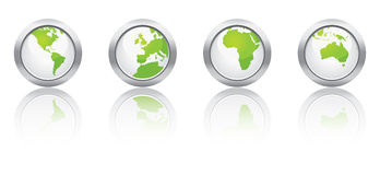 Ecology map buttons Royalty Free Stock Photo