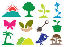 Ecology and Natural icons. 12 icons for Ecology and Natural. Vector illustration Stock Photos