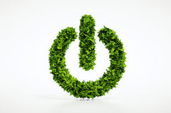 Ecology natural power on button home image with white background Stock Photos