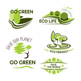 Ecology, nature and environment icon set Stock Photography