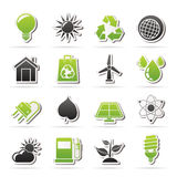 Ecology, nature and environment Icons Royalty Free Stock Photography