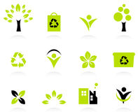 Ecology, nature and environment icons set Royalty Free Stock Photos