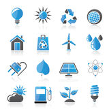 Ecology, nature and environment Icons Stock Photos