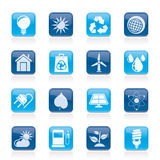 Ecology, nature and environment Icons Stock Photo