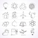 Ecology, nature and environment Icons Stock Photography