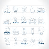 Ecology and nature icons Royalty Free Stock Images