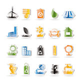 Ecology and nature icons Royalty Free Stock Photos