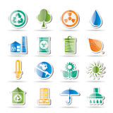 Ecology and nature icons Stock Photo