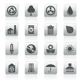 Ecology and nature icons Stock Photography
