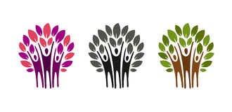 Ecology, nature logo. Tree, charity icon or label. Vector illustration Royalty Free Stock Photos