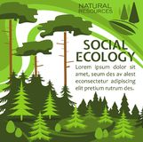Ecology protection banner for eco lifestyle design Royalty Free Stock Images