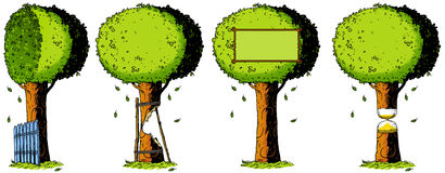 Ecology, nature, tree, illustration, drawing, metaphor Stock Photos
