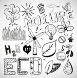 Ecology nature vector doodles Stock Photo