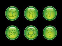 Ecology neon button series Stock Photo