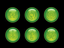 Ecology neon button series Royalty Free Stock Image