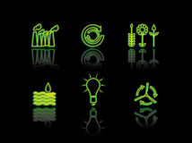 Ecology neon series Royalty Free Stock Images