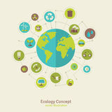 Ecology network connection concept royalty free illustration