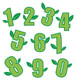Ecology Numbers. Illustration of ecology  numbers on white background Stock Images