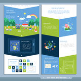Ecology one page website design template Stock Image