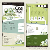 Ecology one page website template design Stock Images