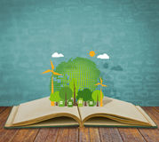 Ecology open book Royalty Free Stock Image