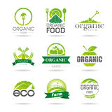 Ecology, organic, farm icon set. Eco-icons. In studies designed to use natural and organic icons Royalty Free Stock Images