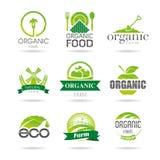 Ecology, organic, farm icon set. Eco-icons Royalty Free Stock Images