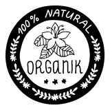 Ecology, organic icon. 100% natural organik. Stock Photo
