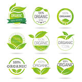 Ecology, organic icon set. Eco-icons. Packing and a set of icons that can be used in all kinds of natural products Stock Image