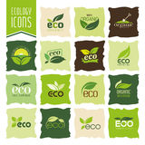 Ecology, organic icon set. Eco-icons Royalty Free Stock Photo