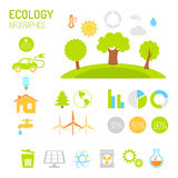 Ecology and organic infographics in flat style Stock Photo