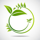 Ecology, organic with leafs Royalty Free Stock Image