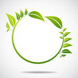 Ecology, organic with leafs Royalty Free Stock Images