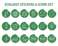 Ecology Outline Icon Set Royalty Free Stock Photos
