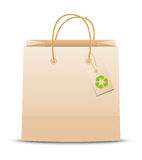 Ecology paper bag Stock Images