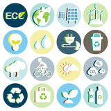 Ecology paper icon Royalty Free Stock Photo