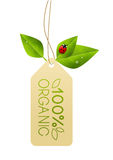 Ecology paper tag Stock Image