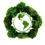 Ecology planet with with trees around. eco earth. Royalty Free Stock Photography